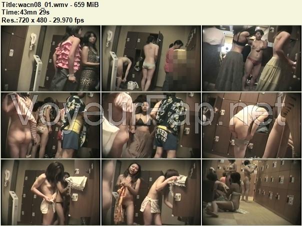 更衣室盗撮です!彼女たちはカメラの存在に全く気づいておりません!ですので彼女たちは思いっきり油断して服を脱いじゃってくれていますよぉ。服を脱いで、ブラを