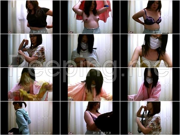 Nurses Dressing Room, 激ヤバ健康診断!着替えの一部始終, 某病院, 健康診断試着室に盗撮師がカメラを設置!千人以上のギャル・OL・アパレル店員・ナース・美容師と様々なジャンルの女子達を盗撮!全ての女子の裸体, Nurses Changing Clothes Hidden Cam