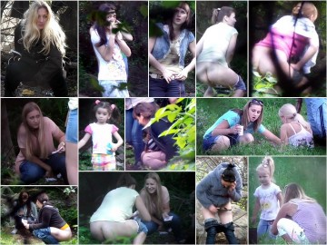 Russian Girls Pee in the Woods 7