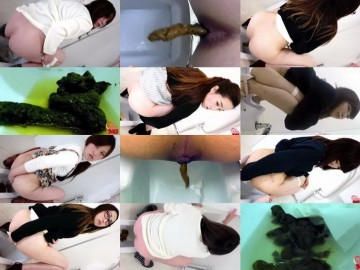 BFFF-146-156 Girls with pimply butt pooping in toilet