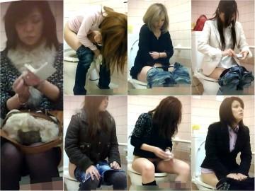 【初出品】某コンビニ★これはスゴい!! 店長が仕掛けた生々しい♥女子トイレ盗撮♥ 01
