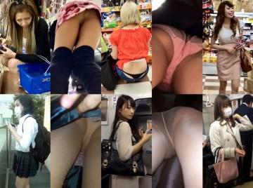 Gcolle Upskirt 19-24 超SSS級お姉さんをスカートめくりで純白パンティ丸見え!