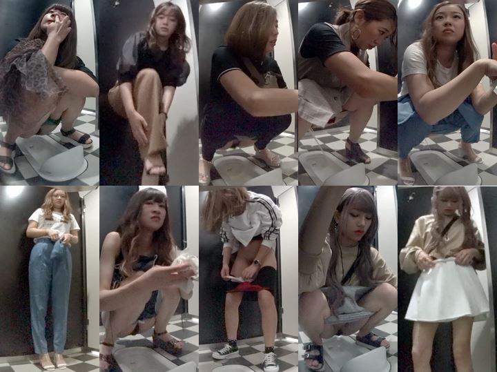 shenggaojiyinengwc 神〇の高級デパート和式トイレ芸〇人レベル以上の美女登場!全力鼻ほじギャルも撮れました