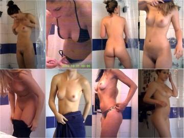 Friends shower Voyeur video