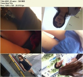 Upskirts in Shopping Mall 61 – 64