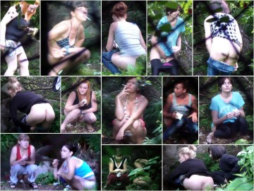 Russian Girls Pee in the Woods 19