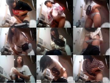 夏まつり女子トイレ 全9名中天然無毛約3名  SW2019