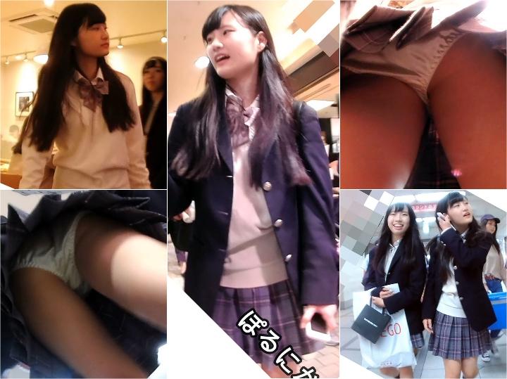 pornika009_jk 髪サラサラな制服Kちゃんの白サテンパンツを拝見(No.9)