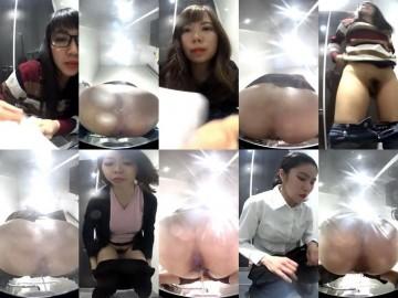 15379761wcpeep 【総勢6名】新・美人が多い駅トイレ 8段