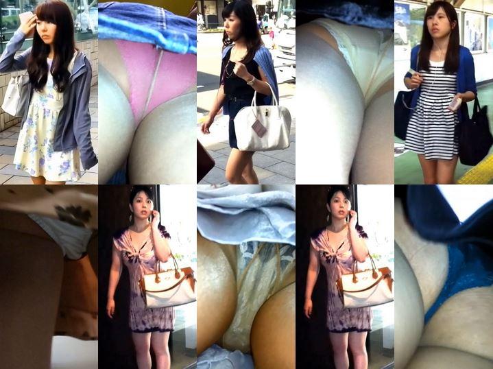 Gcolle_Upskirt_407 街のお姉さん達のパンティVol.4, パンチラ盗撮 OLさん 丸見え黒パンツにナプキン付き, パンチラ盗撮 ツインテール女子 カワイイ柄パンツに超接近撮影, 街のお姉さん達のパンティセットVol.2