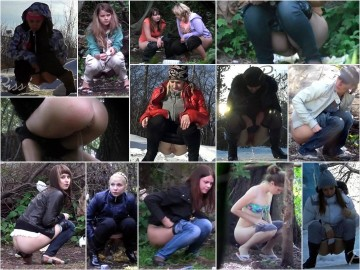 Russian Girls Pee in the Woods