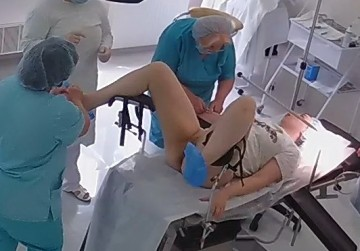 Real hidden camera in gynecological cabinet